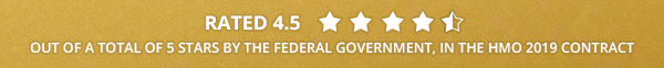 Rated 4.5 out of a total of 5 stars by the federal government, in the hmo 2019 contract